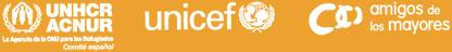 Agencia de la ONU para los Refugiados Comite español - unicef - amigos de los mayores