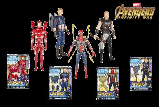 Titán y mochila Power FX: Iron Man, Capitán América, Spider-Man o Thor