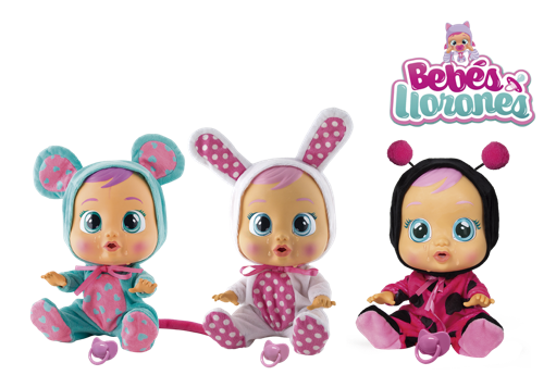 Coney (Conejo), Lala (Ratón), Dotty (Dalmata) o Lady (Mariquita)