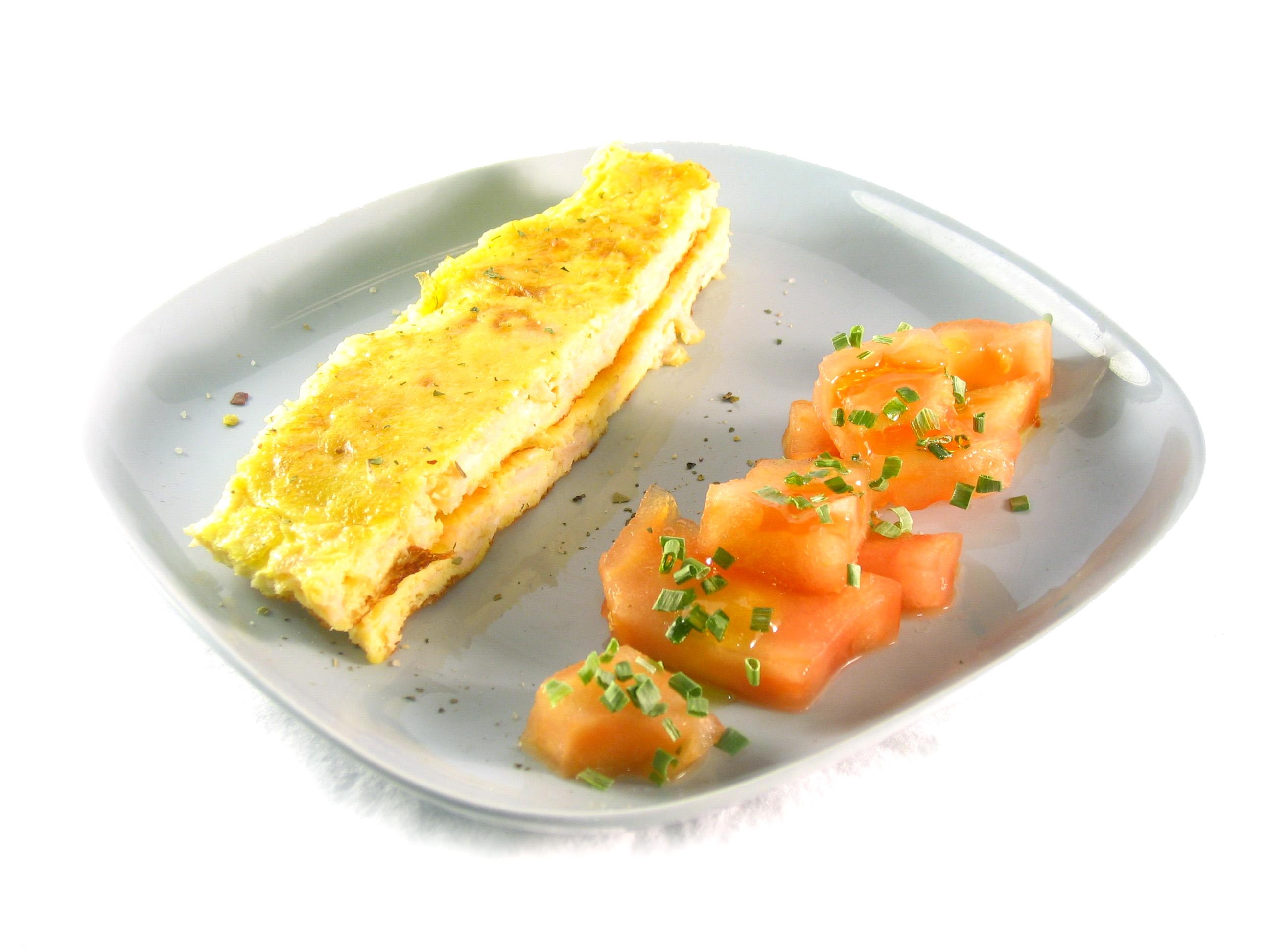 Receta de tortilla de pechuga de pavo EROSKI Sannia  y queso emmental EROSKI