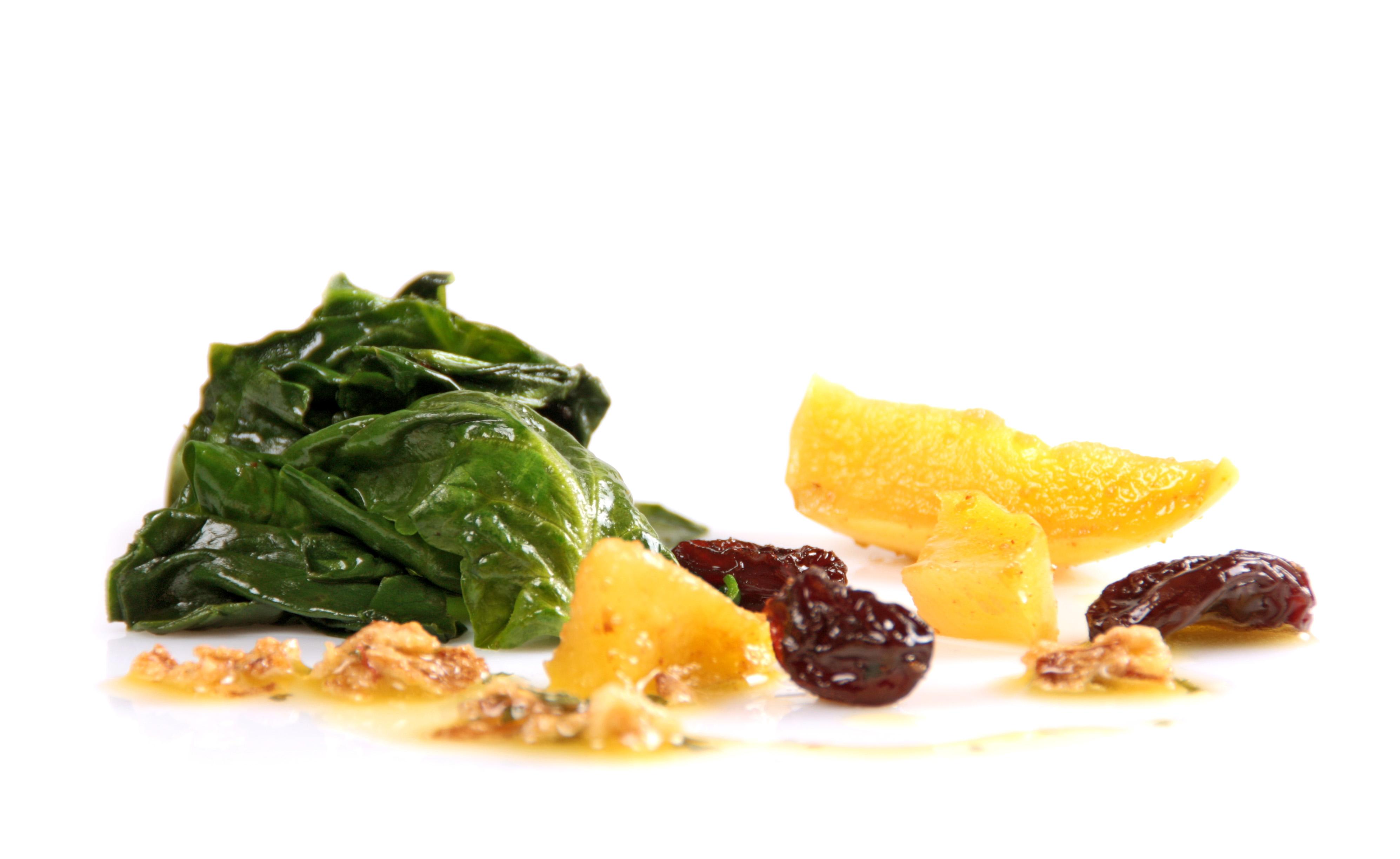 Espinacas para microondas EROSKI con pasas y manzana Eroski NATUR