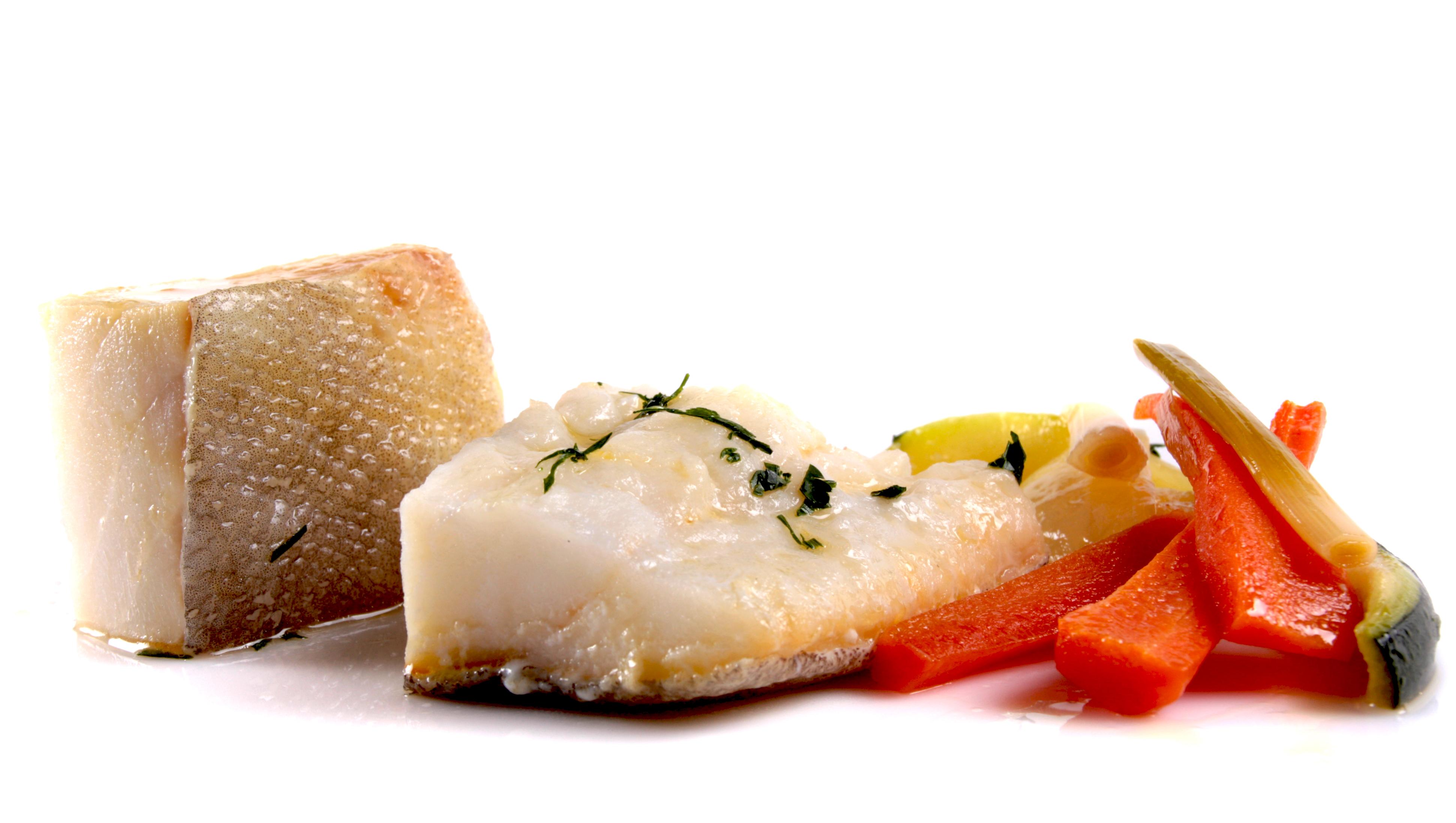 Bacalao desalado EROSKI al horno con verduras
