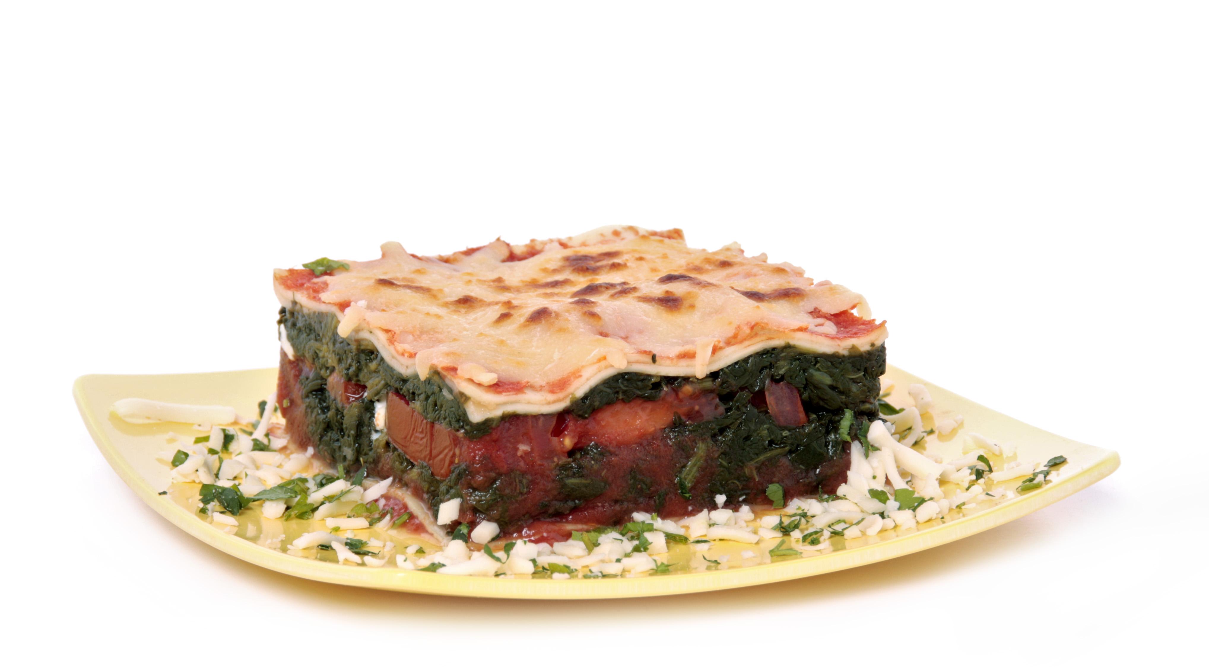 Receta de lasaña de espinacas EROSKI basic