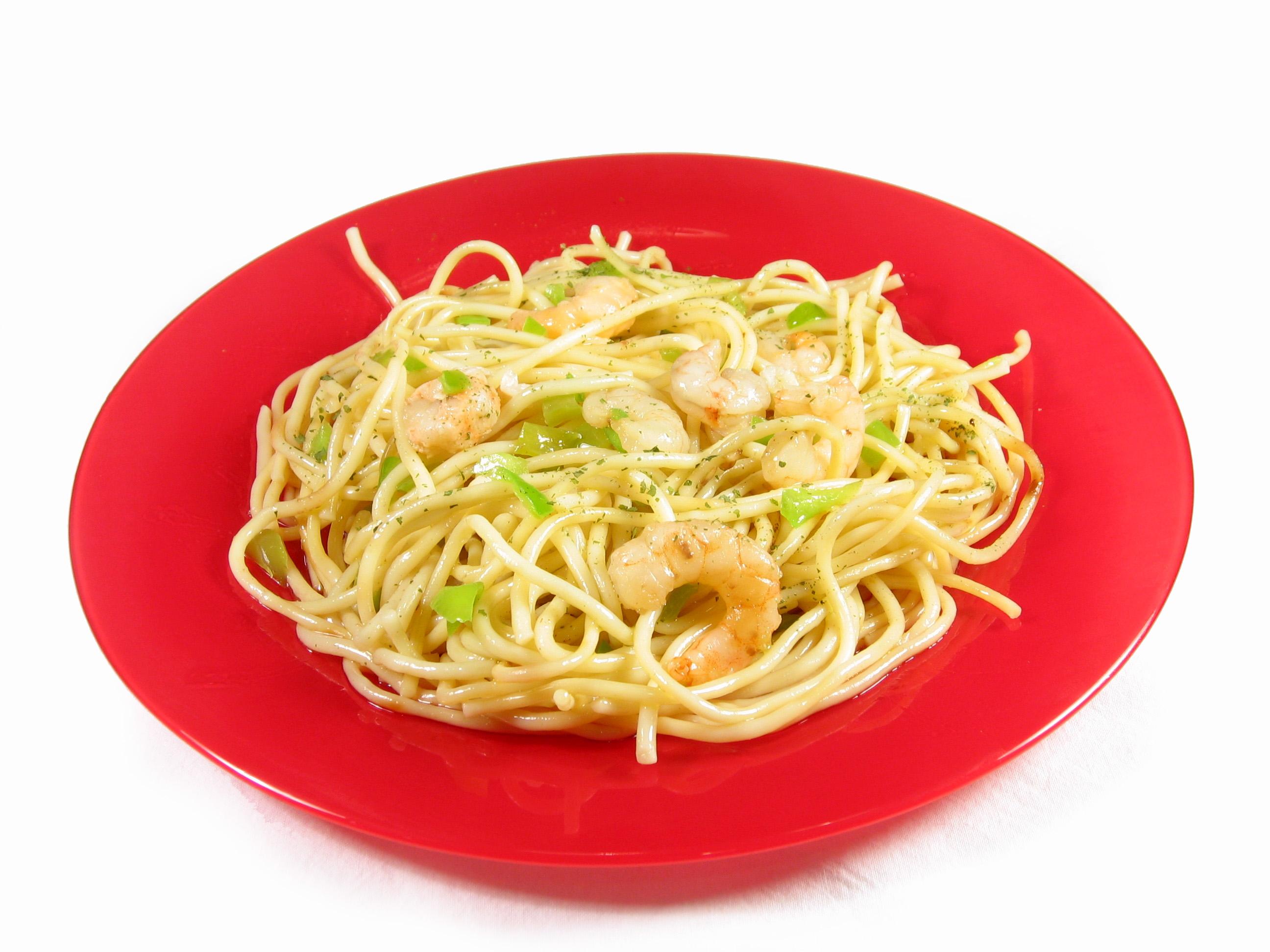 Recetas eroski tipo de plato primeros p gina 5 - Espaguetis con gambas y champinones ...