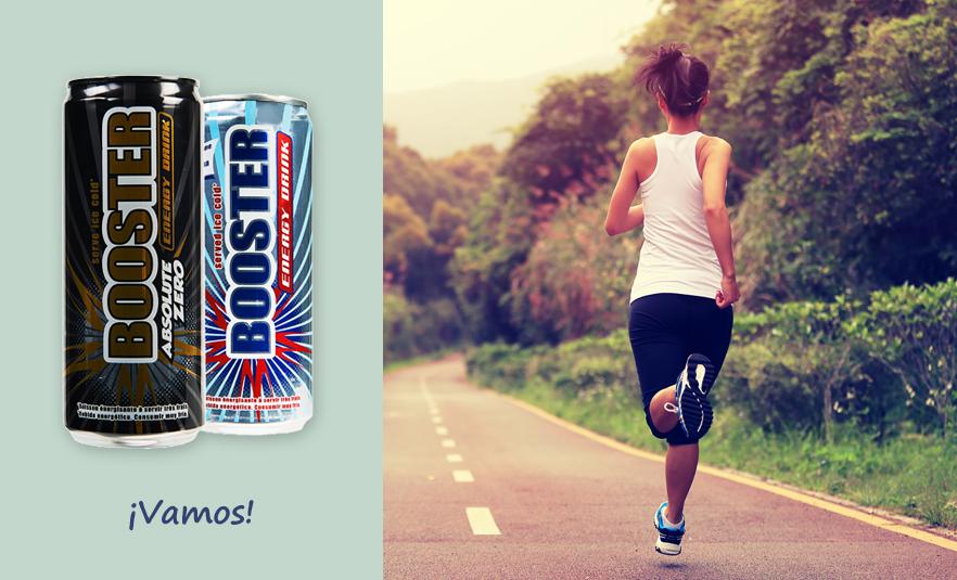 bebidas energéticas Booster Energy Drink y Absolute Zero