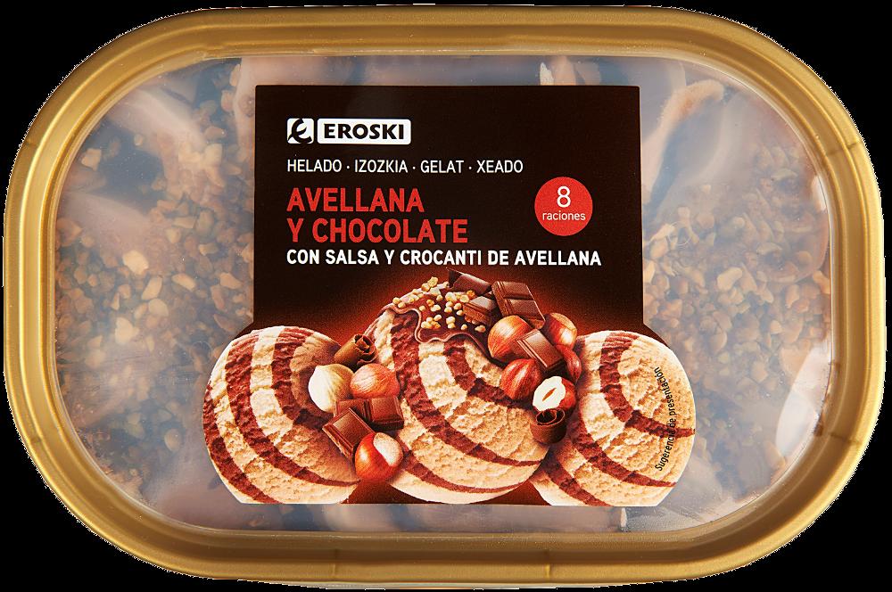 Nuevos helados EROSKI avellana y chocolate