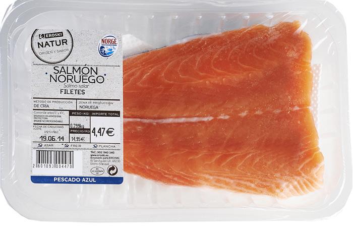 Filetes de salmón Noruego Eroski NATUR