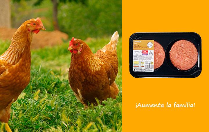 Hamburguesa de pollo EROSKI