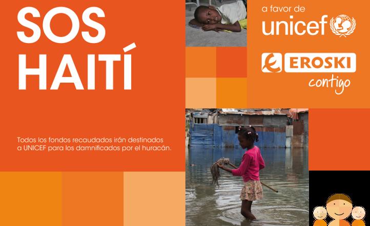 la campaña organizada por eroski recauda para haiti 75.000€