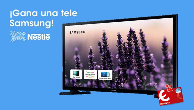 """Ganadores del sorteo """"gana un televisor Samsung con EROSKI Y NESTLÉ"""""""