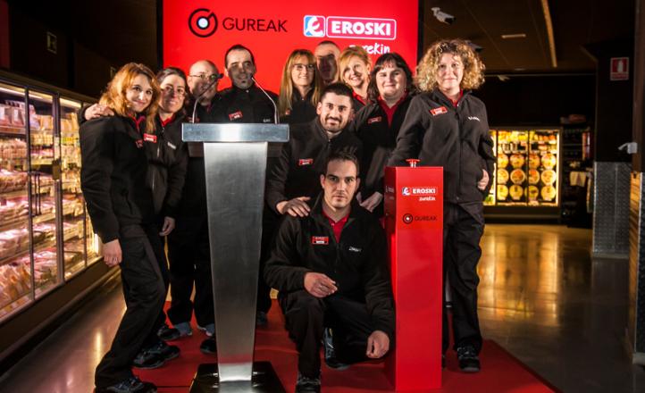 Tercer supermercado gestionado íntegramente por personas con discapacidad - EROSKI