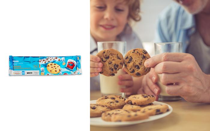 Galletas cookies EROSKI 225g