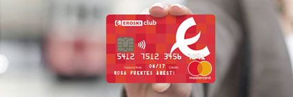 Tarjeta de crédito EROSKI club mastercard