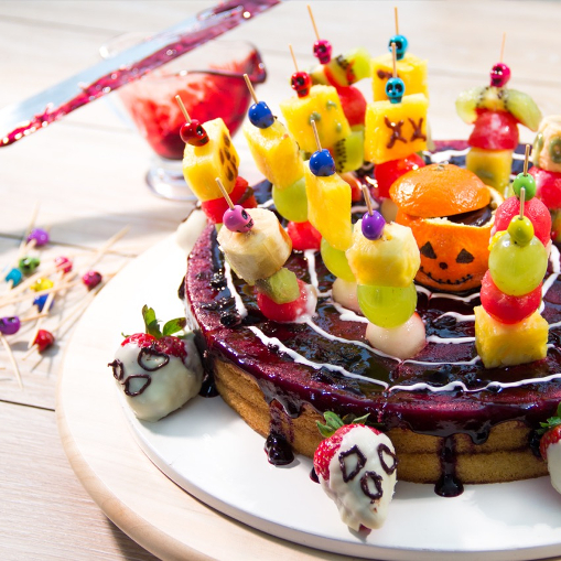 Ideas con frutas para decorar Halloween