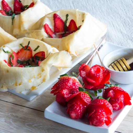 Tartaletas de fresas con mascarpone