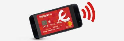 Pago con móvil Tarjeta de crédito EROSKI club