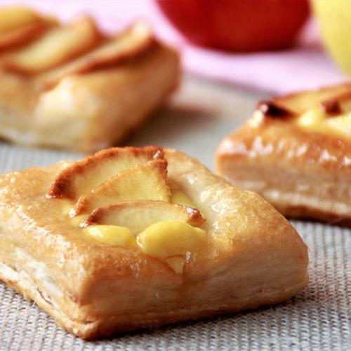 Hojaldre y manzana asada con crema de sidra