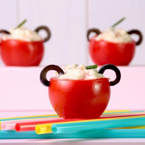 Ensalada de tomate con quesitos | EROSKI
